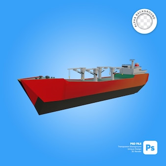Lege lading front look 3d-object