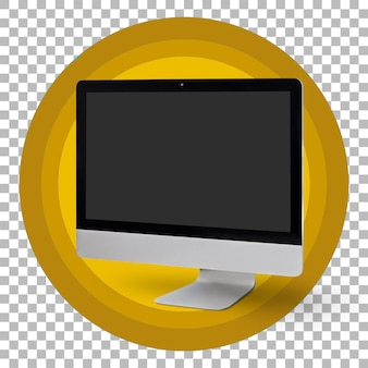 Lege pc-monitor met transparante achtergrond