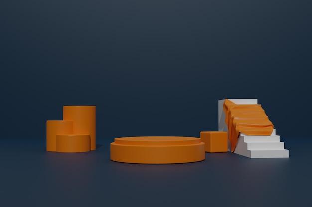 Lege podiumachtergrond met geometrische vorm voor productpresentatie
