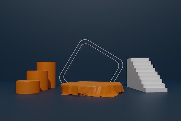 Lege podiumachtergrond met geometrische vorm voor producttribune
