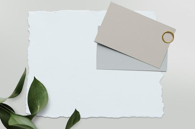 Lege witte kaartsjabloon mockup