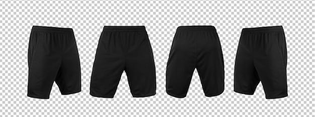 Lege zwarte korte broek broek mock-up sjabloon