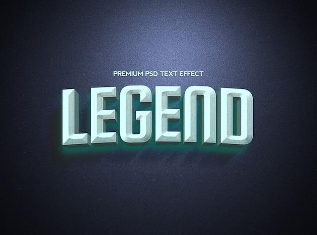 Legend blue en black text effect