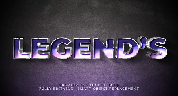 Legends tekststijleffect psd, premium psd teksteffecten