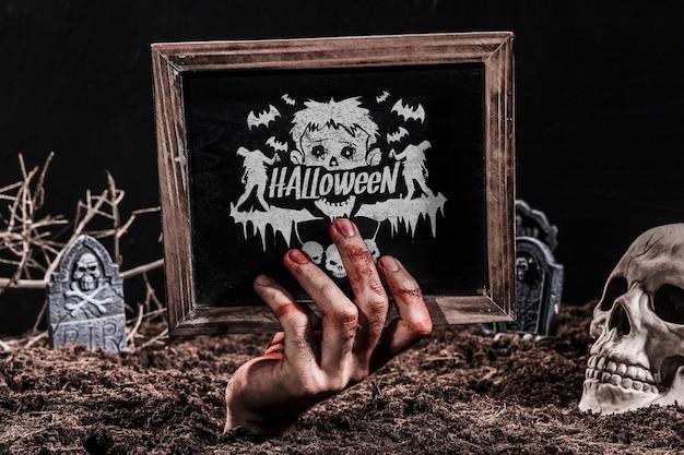 Lei mockup met halloween-concept