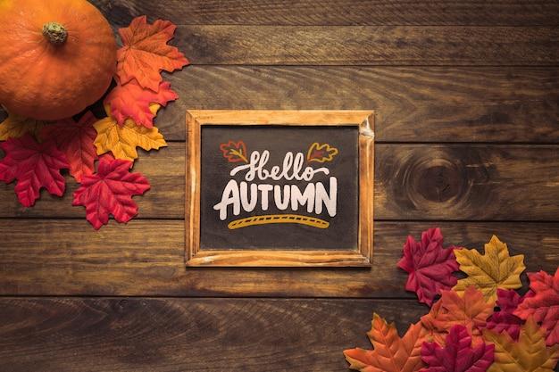 Leibouw met herfstconcept