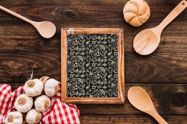 Leibouw met traditioneel spaans voedsel