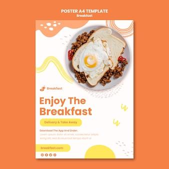 Lekker ontbijt poster sjabloon