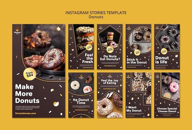 Lekkere donuts instagram-verhalen sjabloon