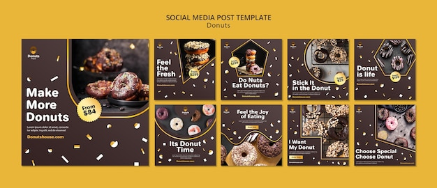 Lekkere donuts op sociale media plaatsen