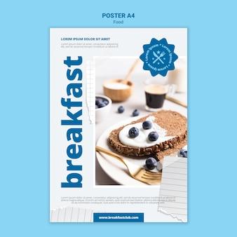 Lekkerste ontbijt afdruksjabloon
