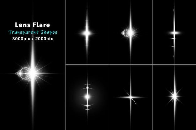 Lens flare verdelers collectie in wit kleurenpakket