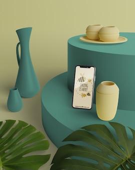 Lente 3d decoraties met mobiel