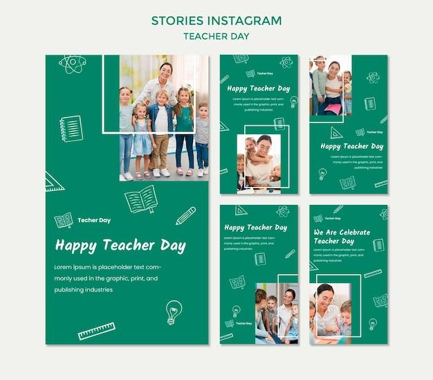 Leraar dag instagram verhalen sjabloon