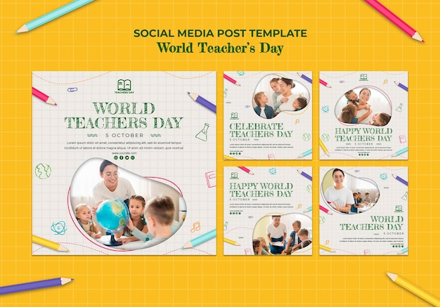 Lerarendag sociale media postsjabloon