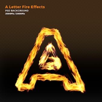Letra del alfabeto de fuego