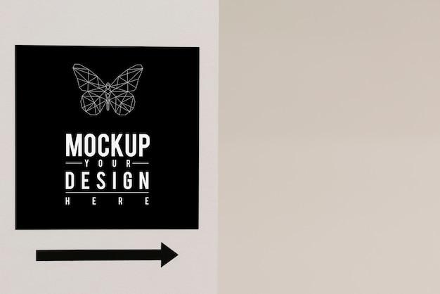 Letrero minimalista y moderno de maqueta.