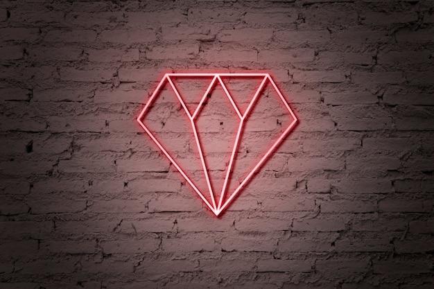 Letrero de neón de diamante