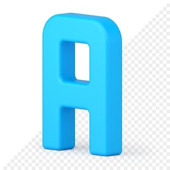 Letter a 3d-pictogram