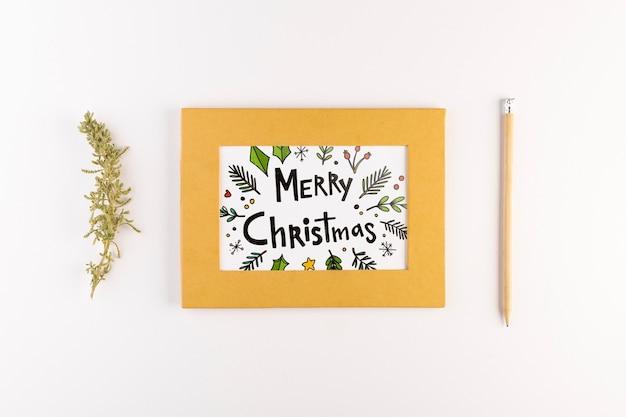 Letter mockup met kerst concept