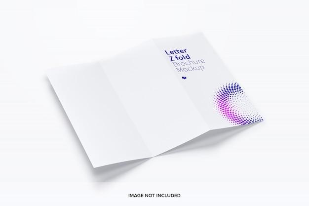Letter z fold brochure mockup