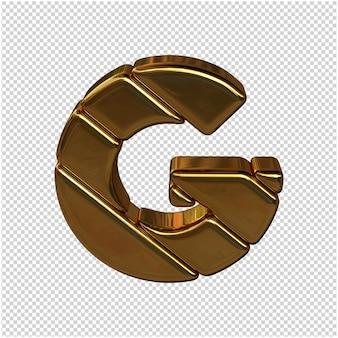 Letters gemaakt van goudstaven. 3d-letter g