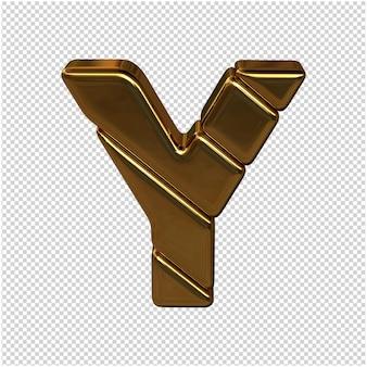 Letters gemaakt van goudstaven. 3d-letter ja