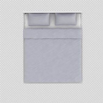 Letto rendering 3d
