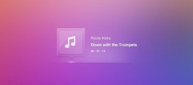 Lettore brano di musica tooltip traccia