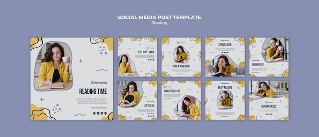 Lettura concetto social media modello di post