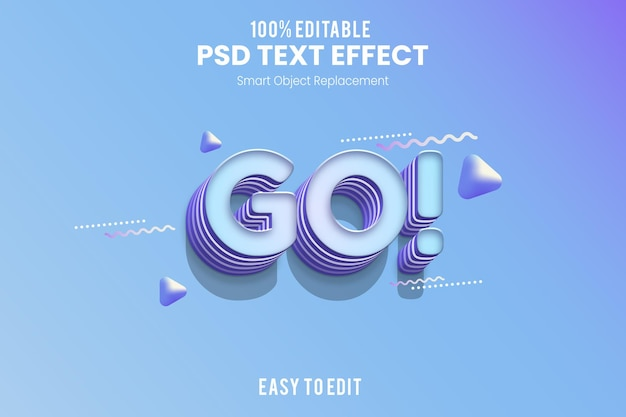 Leuk ontwerp 3d-teksteffect