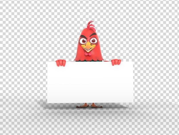Leuke 3d-karakter mascotte illustratie