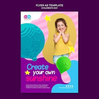 Leuke kleurrijke printsjabloon voor kinderen