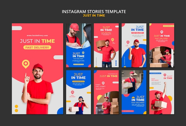 Levering bedrijf instagram verhalen sjabloon