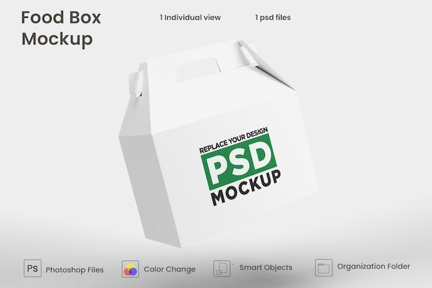 Levering voedsel bruine doos mockup ontwerp