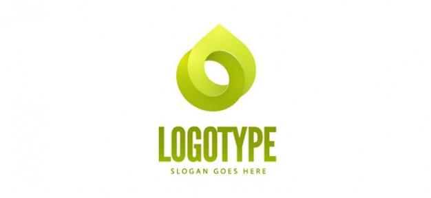 Libero modello logo verde