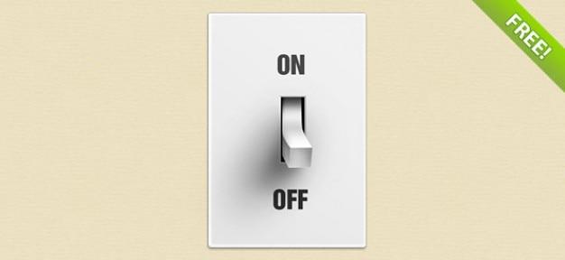 Libre psd botón del interruptor
