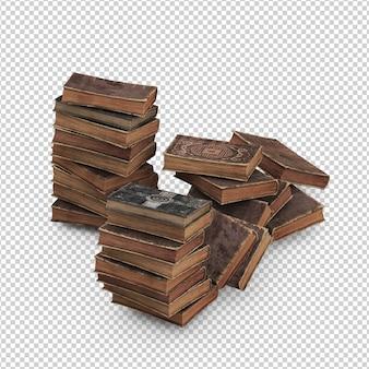 Libri vintage isometrici