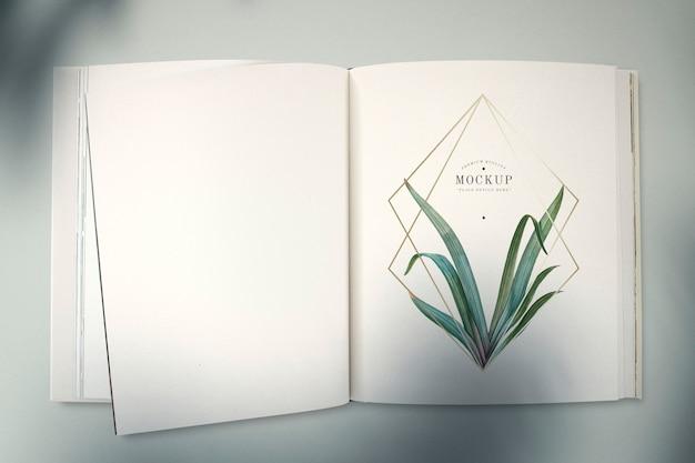 Libro abierto maqueta