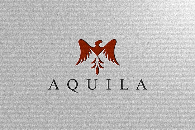 Libro bianco perforato logo mockup