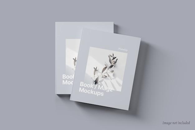 Libro e copertina di una rivista mockup
