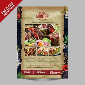 Libro frontale del menu di vintagefood