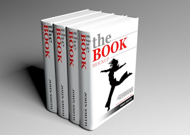 Libro in brossura mock up
