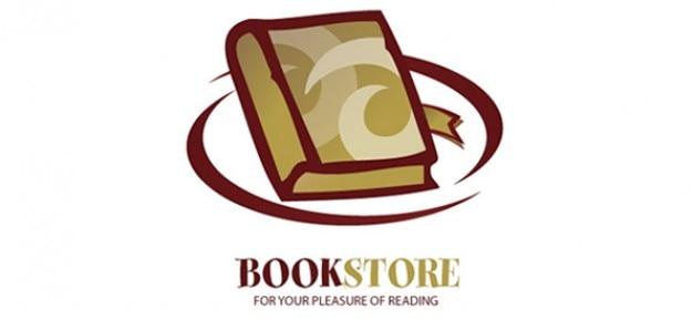 Libro logo design modello vettoriale per i negozi online e biblioteche
