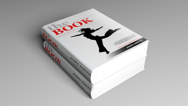 Libro de tapa dura mock up