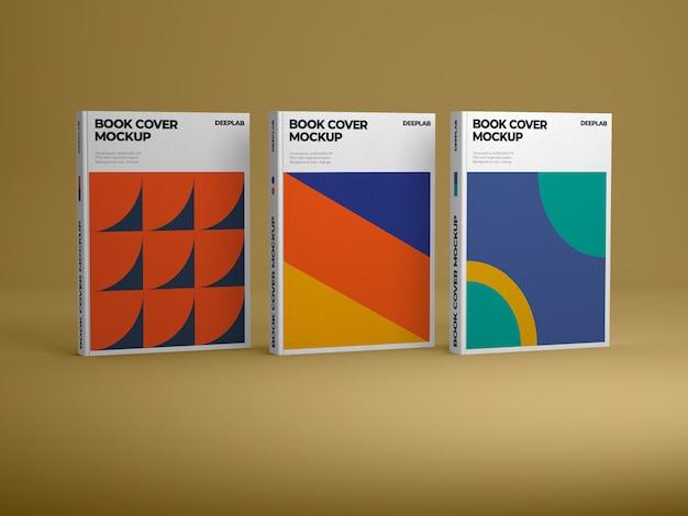Libro verticale dalla copertina rigida con modello di colore di sfondo modificabile