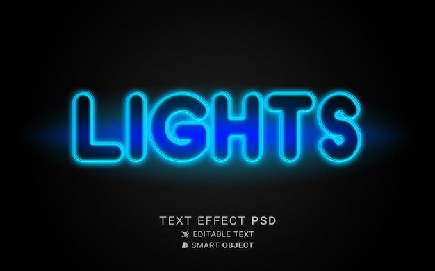 Licht teksteffect neon