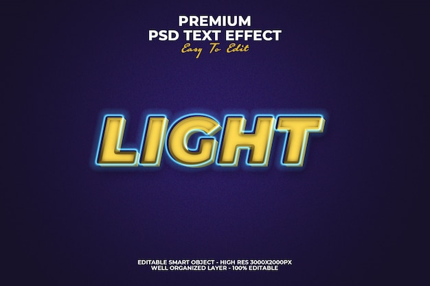 Licht teksteffect premium psd