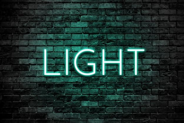 Lichteffect over bakstenen muur