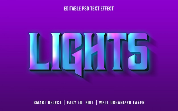 Lichten, teksteffectstijl psd